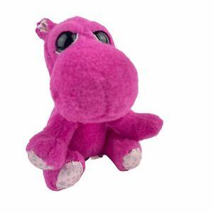 "Rosemary Hippo Russ Ll'l Peepers Plush #11212 Stuffed Animal toy 6"" Fuchsia Pink"