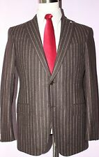 $6590 Zegna Mila Brown 14 mil Wool Silk Cashmere Two Button Suit 40 S 35 32 Flat
