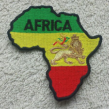 AFRICA MAP PATCH The Lion of Judah Cloth Badge/Emblem Biker Jacket Rastafarian