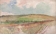 IMPRESSIONIST ENGLISH LANDSCAPE Watercolour Painting MARCUS ADAMS c1950