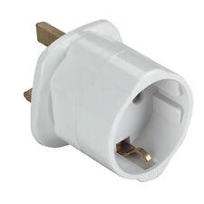 EU Euro Europe European to UK England English Travel Adapter Plug w/ CE Approved