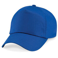 ORIGINAL 5 PANEL BASEBALL CAP, Beechfield Plain 100% Cotton Twill - 26 COLOURS