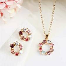 Beautiful Earrings Jewelry Set Stud Earring DIAMOND Dangle Earring Necklace BL