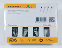 20Pcs Dental Fiber Post Glass Resin Post 1.0mm 1.2mm 1.4mm 1.6mm + 4 Drills