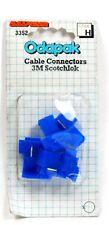 CABLE CONNECTORS 3M SCOTCHLOK BLUE 5 CONNECTORS FOR 12 VOLTS USE