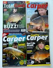 4 x Crafty Carper & Total Carp Magazines - 2011 -2013 - 2014