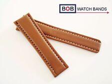 - BOB ECHTLEDERUHRBAND kompatibel nur mit Breitlingfaltschließe CARAMEL 24/20 mm