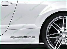 AUDI QUATTRO Side Skirt Premium Decals Stickers TT RS A4 A8 S4 S5 S6 S8 S-line