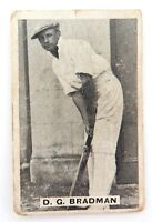 """.c1932 DON BRADMAN SWEETACRES CARD """"PROMINENT CRICKETERS"""""""