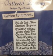 NEW Tattered Lace FASHION SENTIMENTS Die Set - D722 - 30 Word & Sentiment Dies!