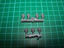7 Adepta Sororitas Retributors Helmeted Heads (bits)