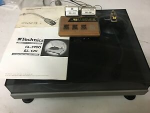 Rare Turntable - Technics SL 120 with SME 3009 Mk 11 Improved arm with cover