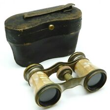 ANTIQUE Pair of Mother of Pearl Opera Glasses Binoculars with Original Case