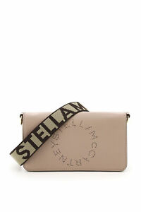 Stella mccartney crossbody mini bag star logo studs