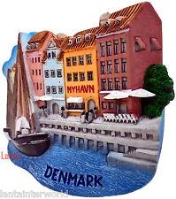 Nyhavn Harbor Watefront Copenhagen Denmark 3D Fridge Magnet Holiday Refrigerator