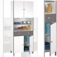 Hochschrank 540 weiß basalt Küchenschrank Buffetschrank Schrank Küche Buffet