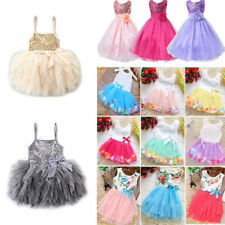 Kids Baby Girls Party Sequin Tutu Dress Wedding FashionDresses Little Princess