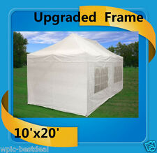 10'x20' Pop Up Canopy Party Tent EZ - White - F Model Upgraded Frame