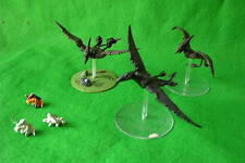 WARHAMMER Lizardmen terradons & RIDERS X3 dipinto