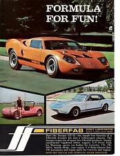 1968 FIBERFAB AVENGER GT-12 / MUSTANG KIT CAR  ~  NICE PRINT AD