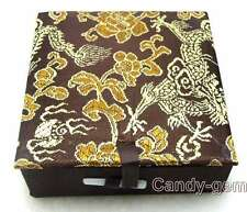 SALE One Big 90*90mm Brown square Multi Purpose China Silk Jewelry Gift Box-b20
