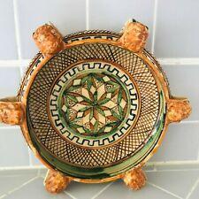 Antique S. Zeno Italian Majolica Decorative Serving Dish Stamped #67 ITALY
