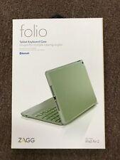 NEW ZAGG folio Wireless Bluetooth Keyboard Case for Apple iPad Air 2 ID6ZFN-GY0