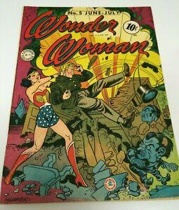 Wonder Woman #5 Golden Age DC Superhero Comic 1943
