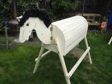 Holzpferd mit beweglichem Kopf Voltigierpferd Holzpony Pferd 114 cm