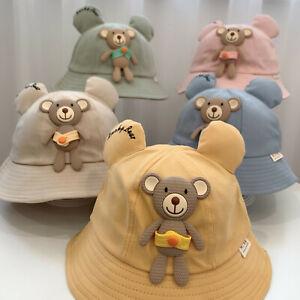 Toddler Baby Kids Boys Girls Printing Pattern Bucket Hats Hat Sun Cap
