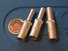 "BGS TOOLS DEEP SOCKETS 4mm  5mm and 6mm  CHROME VANADIUM  1/4"" S D  TOP QUALITY"