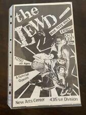 LEWD original flyer hardcore punk large size 8x14