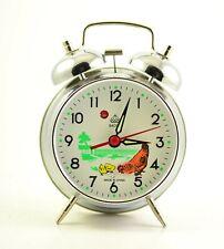 VINTAGE ANIMATED ALARM CLOCK BAOSHI CHINA MECHANICAL Chicken HEN