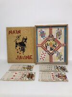 Jeu De Nain Jaune Card Game - French Board Game - Wooden Box - Not Complete