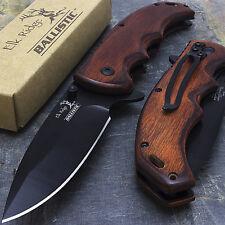 "8.25"" ELK RIDGE EDC BROWN PAKKAWOOD SPRING ASSISTED FOLDING KNIFE Wholesale Lot"