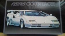 Vintage Fujimi 1/16 'KOENIG' Lamborghini Countach model kit. RARE