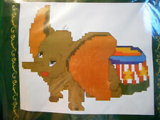BABY ELEPHANT - PRE-PRINTED Cross Stitch KIT (New)