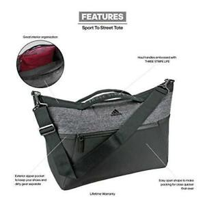 Adidas Studio III Bag 5145438 Duffel Black / Black Jersey Gray Gym Yoga Bag