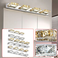 Modern Bathroom Crystal LED Mirror Light Wall Mounted Lamp Fixtures Vanity Lamps