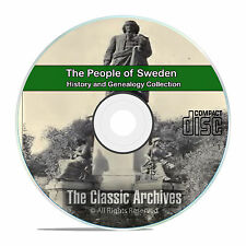Sweden. People Cities and Towns, History and Genealogy 27 Books DVD CD B27