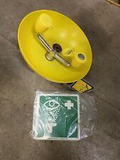 SPEAKMAN SE-580 Wall-Mounted Eyewash Station with Plastic Bowl in Yellow