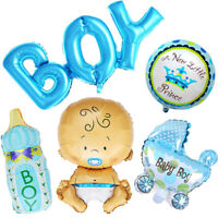 5Pcs//Set Boy Girl Baby Shower Christening Foil Balloons Party Decoration Kids GV
