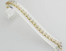 Sehr schönes 10 Karat Gold Armband mit 46 Diamanten ca. 3,50 Karat - B460