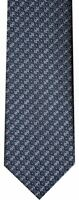 NEW BRIONI NAVY TURQUOISE SILVER BLUE-GRAY FANCY BOX 100% SILK NECK TIE