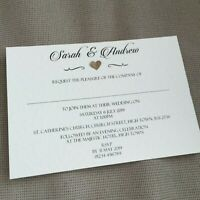 10 Personalised Wedding Evening Invitations Invites Vintage Classic Regency