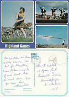 1980's MULTI VIEWS OF THE HIGHLAND GAMES SCOTLAND COLOUR POSTCARD
