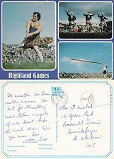 1980's MULTI VIEWS OF THE HIGHLAND GAMES SCOTLAND COLOUR POSTCARD