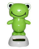 Solar Dancing Frog Home Office Car Decorative Figurine Ornament Solar Powered