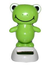 Solar Dancing Frog casa oficina coche Estatuilla Ornamento Decorativo Energía Solar
