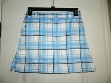 Women's IZOD White, Blue & Black Golf Skirt Size 2
